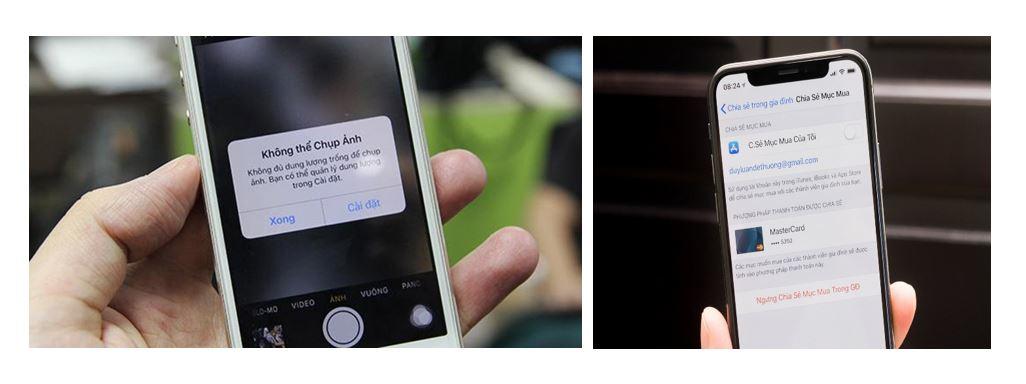 Điện thoại đầy bộ nhớ