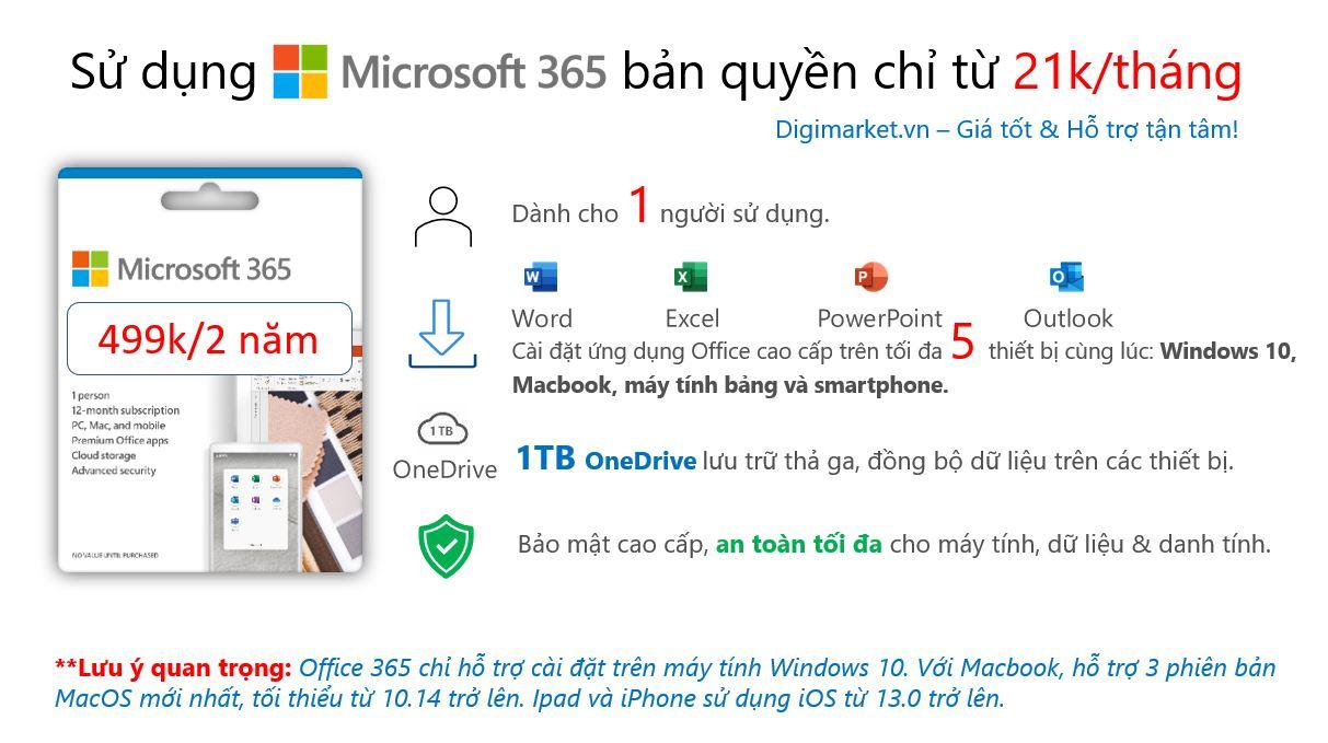 Office 365 2 năm